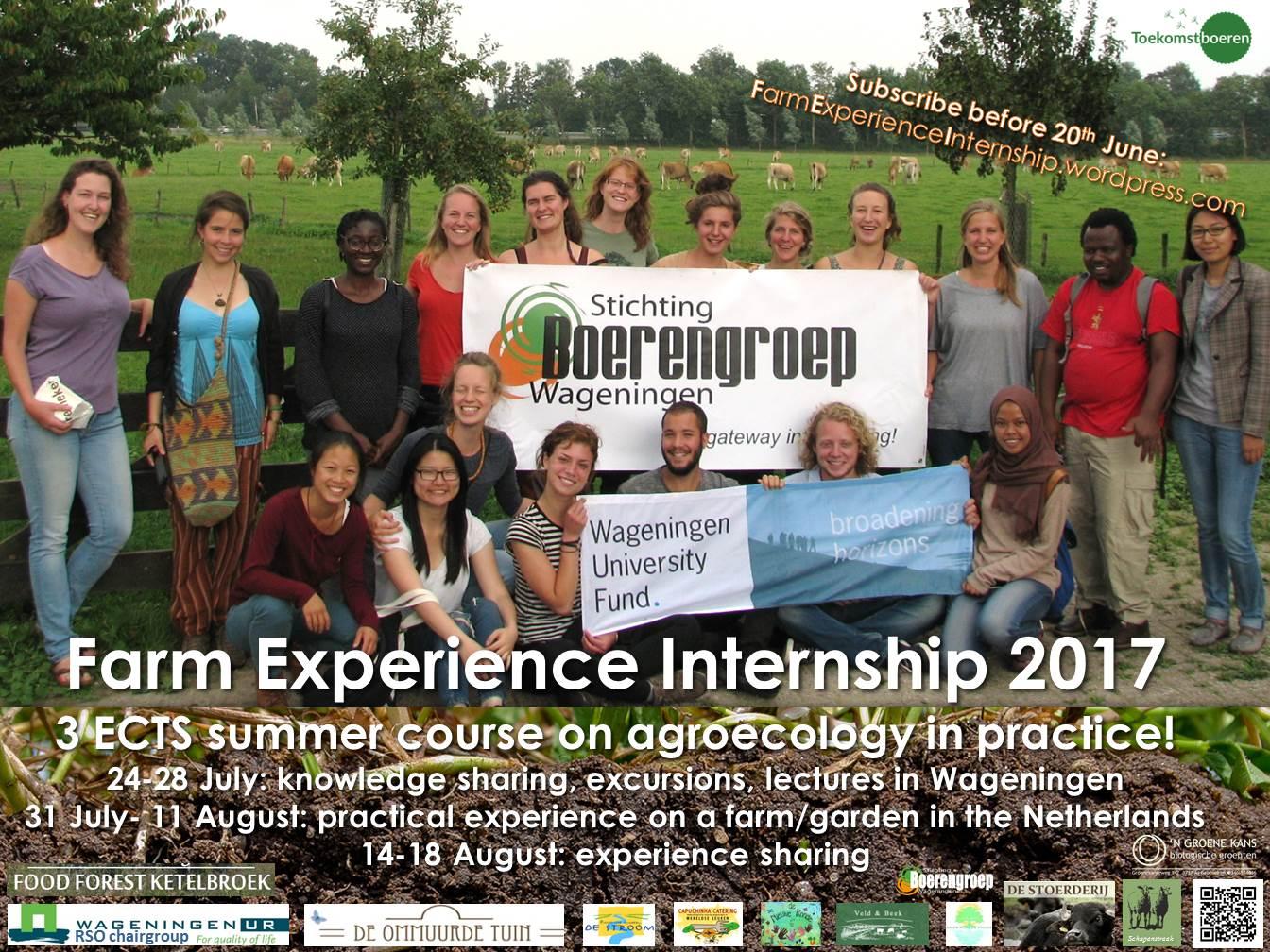 Farm Experience Internship 2017