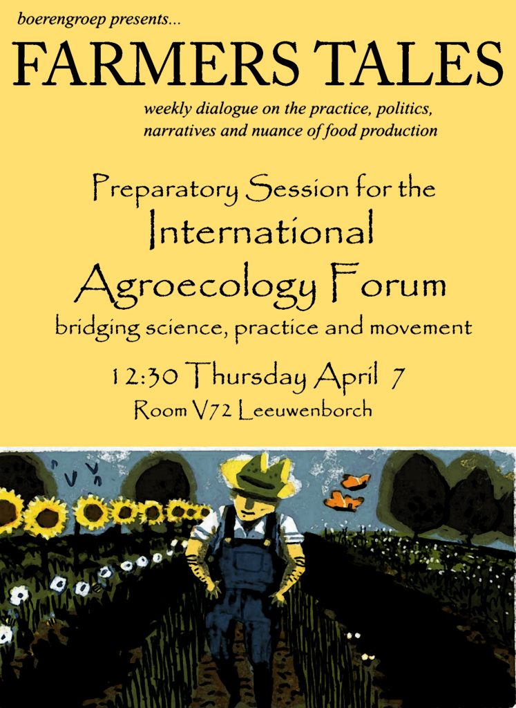160407 Preparatory Session for the International Agroeoclogy Forum