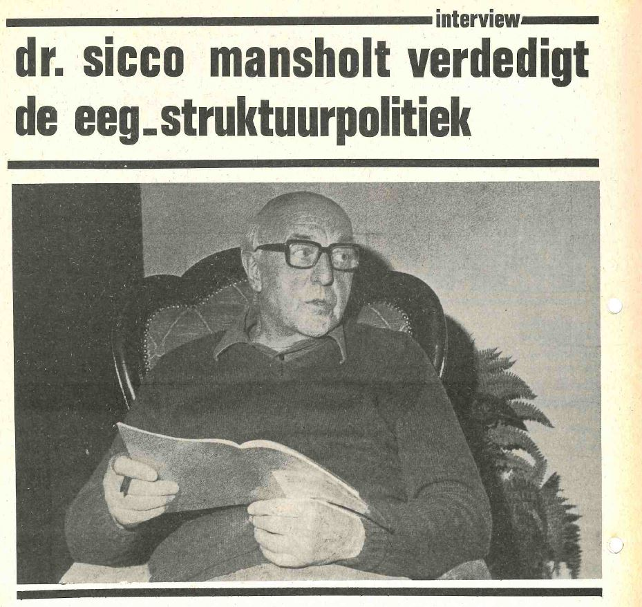 Boerengroep Interview Sicco Mansholt 1976