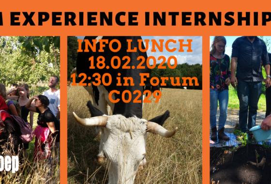 INFO lunch: Farm Experience Internship (FEI)