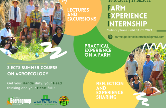 FARM EXPERIENCE INTERNSHIP 2021 : REGISTRATION IS NOW OPEN !