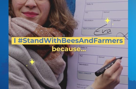 Volunteer during the Climate Strike to support 'Save Bees and Farmers'